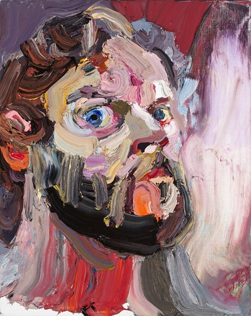 Self Portrait with mirror No. 1 by Ben Quilty contemporary artwork