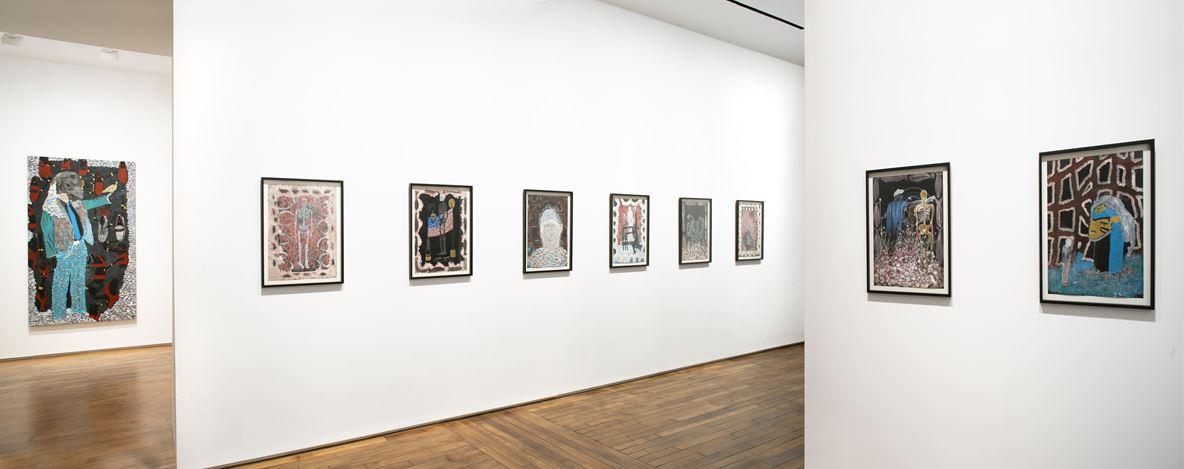 Exhibition view: Omar Ba, Autopsie de nos consciences, Templon, Paris (8 September–27 October 2018). Courtesy Templon.