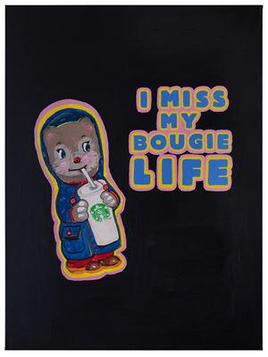 I Miss My Bougie Life by Magda Archer contemporary artwork