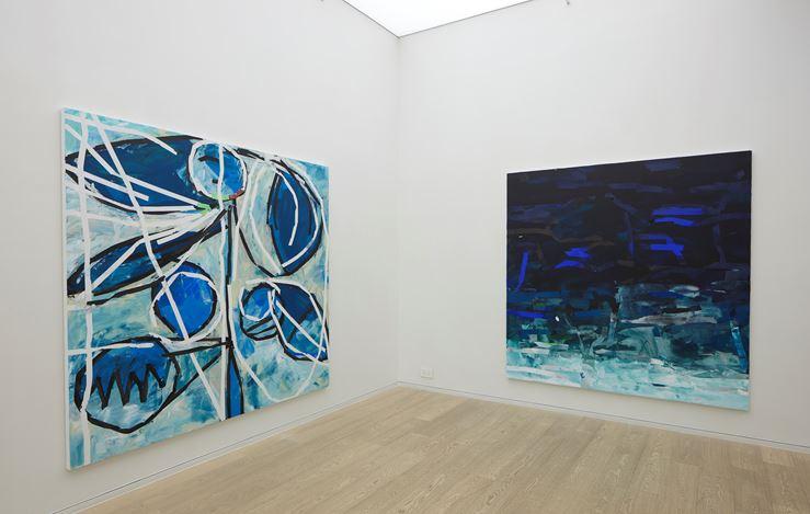 Exhibition view: Heimo Zobernig, Simon Lee Gallery, Hong Kong (26 March–10 May 2019). Courtesy Simon Lee Gallery.