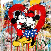 Mickey & Minnie by Mr. Brainwash contemporary artwork painting, works on paper, print