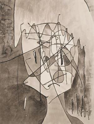 Figure of Half Human by Chihiro Mori contemporary artwork