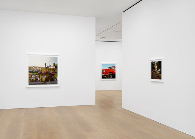 Exhibition view: William Eggleston, 2¼, David Zwirner, London (12 April–1 June 2019). Courtesy David Zwirner. Photo: Jack Hems.