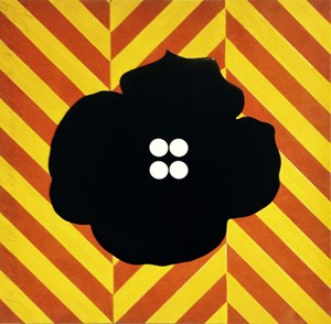Black Button and Herring Bone July 2 2014 by Donald Sultan contemporary artwork