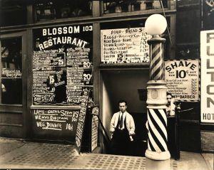 Blossom Restaurant, 103 Bowery, Manhattan, October 24 by Berenice Abbott contemporary artwork photography