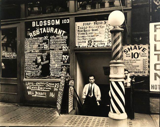 Blossom Restaurant, 103 Bowery, Manhattan, October 24 by Berenice Abbott contemporary artwork