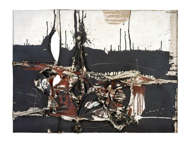 Cuadro 84 by Manolo Millares contemporary artwork