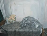 in front of peers... This person has by Ana Maria Micu contemporary artwork painting, works on paper