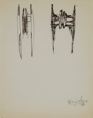 Drawing 97 by Krishna Reddy contemporary artwork