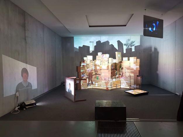 Exhibition view: Wang Ziyue,The Sixth Day, Tabula Rasa Gallery, Beijing (31 August–20 September 2019). Courtesy Tabula Rasa Gallery.