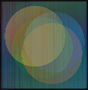 Cromointerferencia espacial 36 by Carlos Cruz-Diez contemporary artwork