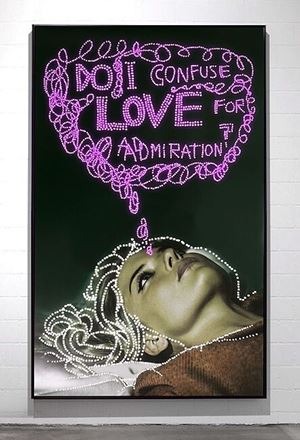 Do I confuse love for admiration by Daniele Buetti contemporary artwork