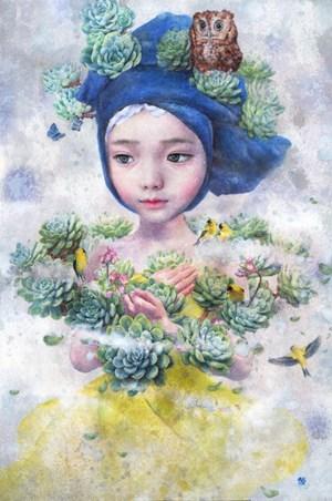 Blue Wish Story3 by Suh Seung-Eun contemporary artwork