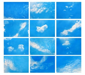 Always take the weather with you (Set of 12) by Rohini Devasher contemporary artwork