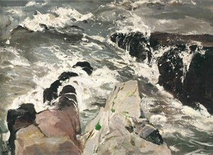 Breaking Waves 击浪 by Pang Tao contemporary artwork painting