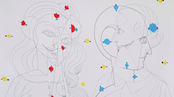 Contemporary art exhibition, George Condo, Drawings for Distanced Figures at Hauser & Wirth, Hong Kong