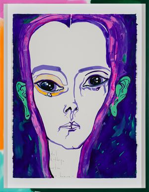 a human by Del Kathryn Barton contemporary artwork