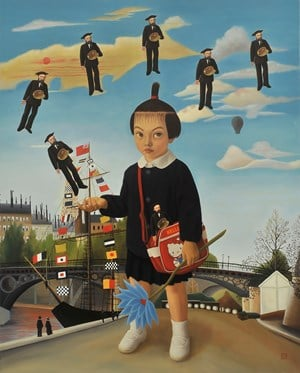 Rousseau Released into the Sky by Mitsuru Watanabe contemporary artwork