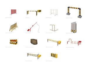 Security Barriers (M-Z) by Bani Abidi contemporary artwork painting, works on paper, drawing