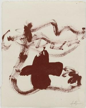 Boca, peu i creu by Antoni Tàpies contemporary artwork