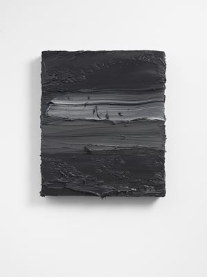 Untitled (French Cassel Earth/ Scheveningen Black) by Jason Martin contemporary artwork