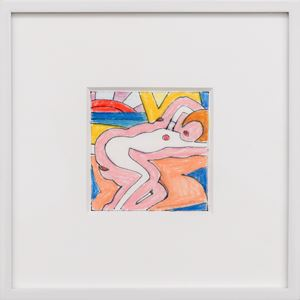 Study for Sunset Nude with Picasso Vase by Tom Wesselmann contemporary artwork