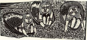 Girls Picking Water Caltrops by Chu Wei-Bor contemporary artwork