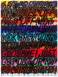 Get Lost by Mel Bochner contemporary artwork painting