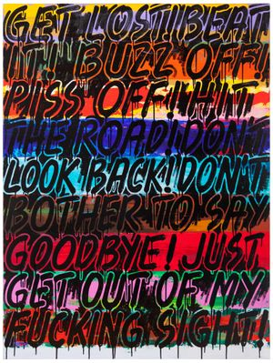 Get Lost by Mel Bochner contemporary artwork