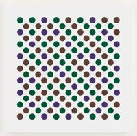 Study for Measure for Measure Dark 2 by Bridget Riley contemporary artwork painting