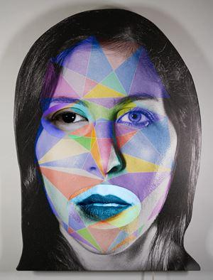 e X ! R by Tony Oursler contemporary artwork