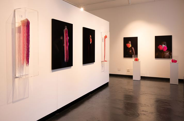 Exhibition view: Group Exhibition, The Mask Project, THK Gallery, Cape Town (29 July–29 August 2020). Courtesy THK Gallery.