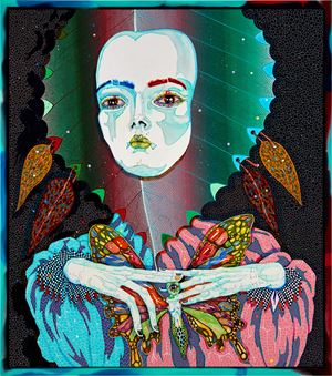 butterfly...she changed everything by Del Kathryn Barton contemporary artwork