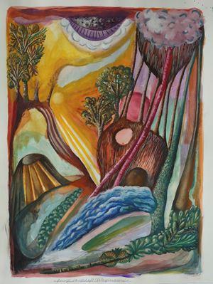 Feurige Landschaft (Naturphänomene) by Hartmut Neumann contemporary artwork