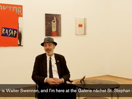 """Galerie nächst St. Stephan I Walter Swennen speaks about his exhibition """"Tambula malembe"""""""
