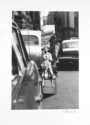 Times Square + Mirror, NY (Vogue) by William Klein contemporary artwork