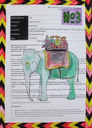 Elephant Riders by Carla Busuttil contemporary artwork