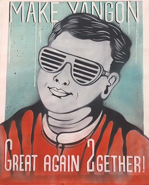 Make Yangon Great Again Together by Thu Myat contemporary artwork