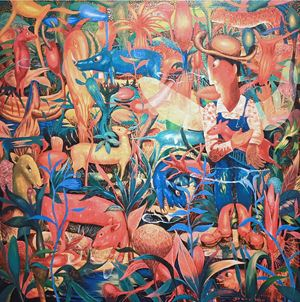 Tropical Cowboy by Yarno contemporary artwork