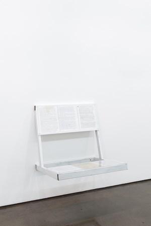 Reading Bench [Bert & Holly Davis] by Oscar Tuazon contemporary artwork