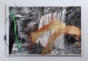 Untitled (Waterfall) by Brook Andrew contemporary artwork