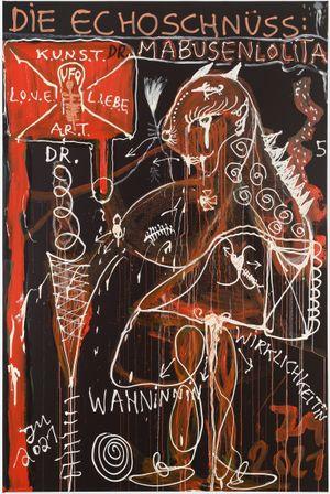 DIE DR: MABUSENLOLITA (ZWISCHEN ABSTRAKTION UND WAHN) by Jonathan Meese contemporary artwork painting