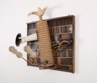 Histoires de boites a lettres NO.VII by Daniel Spoerri contemporary artwork sculpture