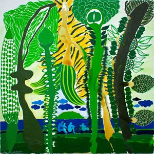 Nofofakaoti (Stay Forever) by John Pule contemporary artwork painting, works on paper