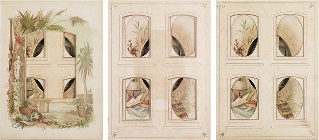 Every even page from a nineteenth century photo album #1-3 by Izabela Pluta contemporary artwork