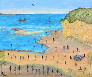 William Buckley at Bells Beach by Marlene Gilson contemporary artwork