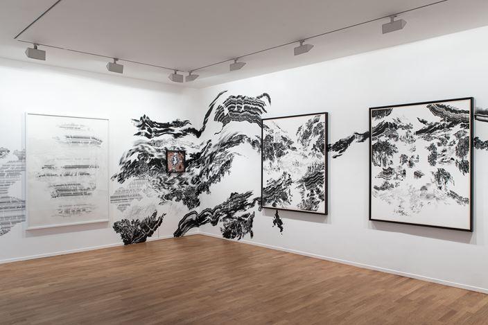 Exhibition view: Abdelkader Benchamma,Engramme, Templon, 30 rue Beaubourg, Paris (16 March–19 May 2019). © Abdelkader Benchamma. Courtesy Templon. Photo: © Diane Arques / ADAGP, 2019.