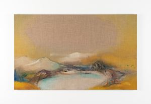 Yellowscape by Leiko Ikemura contemporary artwork
