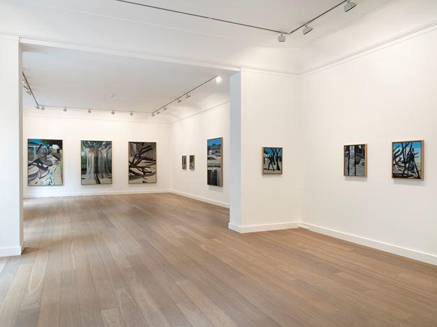 Exhibition view: Marc Desgrandchamps, Jardins obscurs,Galerie Lelong & Co., 13 Rue de Téhéran, Paris (5 September–5 October 2019). Courtesy Galerie Lelong & Co., Paris.