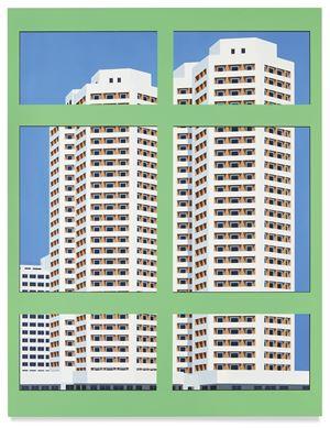 Nostalgia of the Infinite (Green Window) by Daniel Rich contemporary artwork